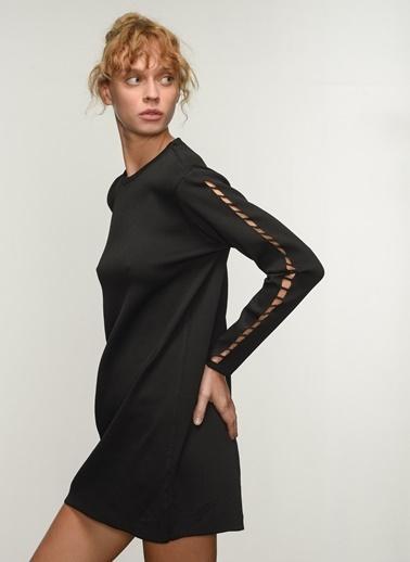People By Fabrika People By Fabrika Kol Detaylı Kadın Triko Elbise Siyah